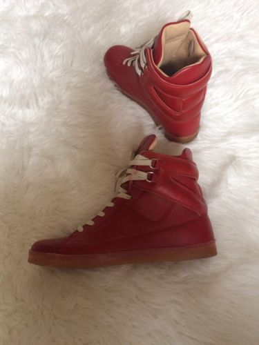 Maison Martin Margiela H M Sneakers Red Shoes Rare Sneakers Size 9 HM Collabo