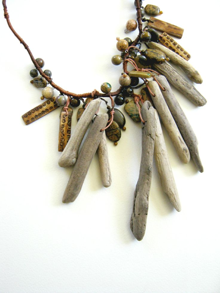 Driftwood Bone And Stone Necklace Judy Corlett Driftwood