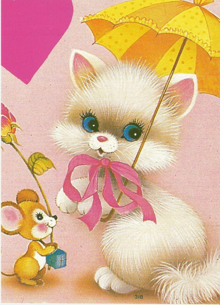 Gata com guarda chuva