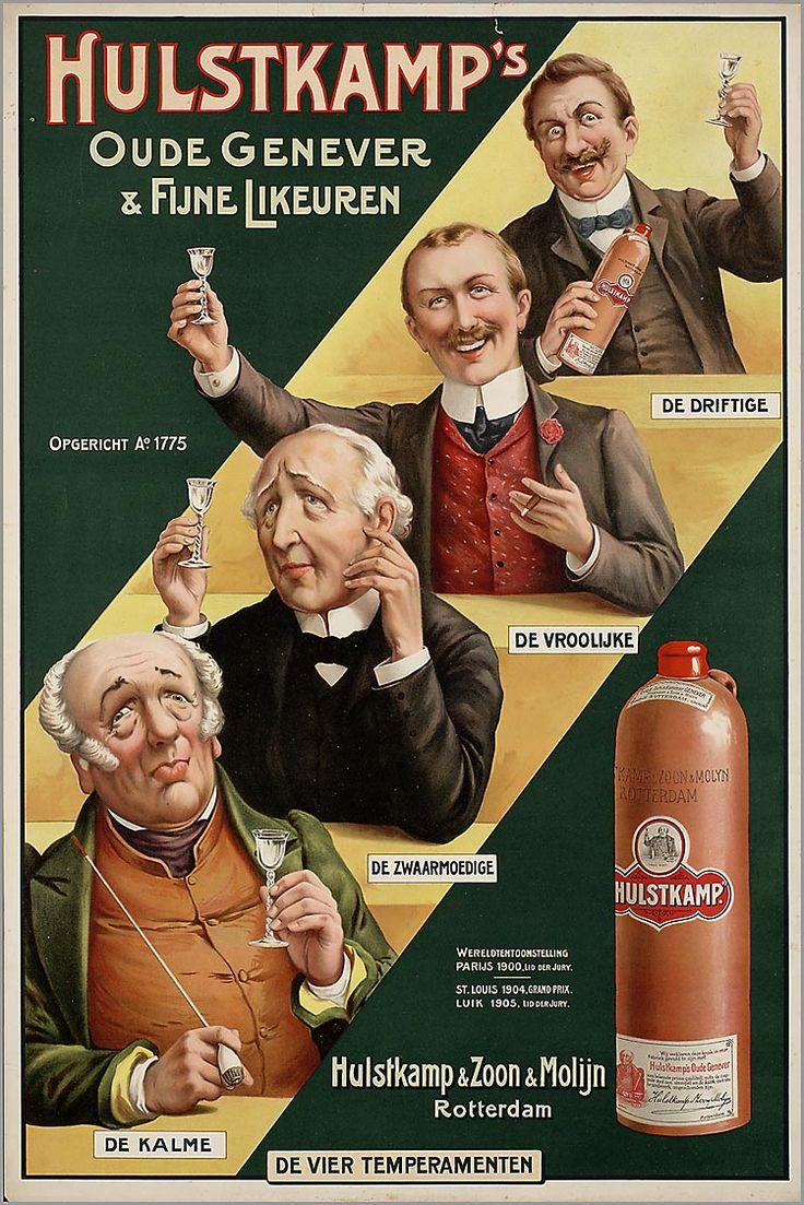 Hulstkamp's Oude Genever & Fijne Likeuren, 1900-25
