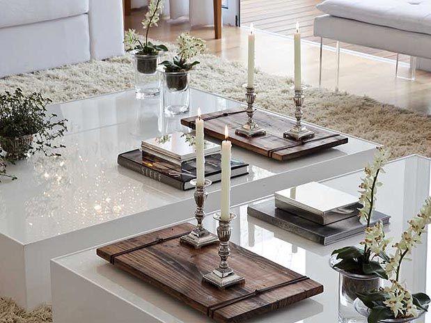 Detalhe da mesa de centro. Simples, Moderno e super chique.