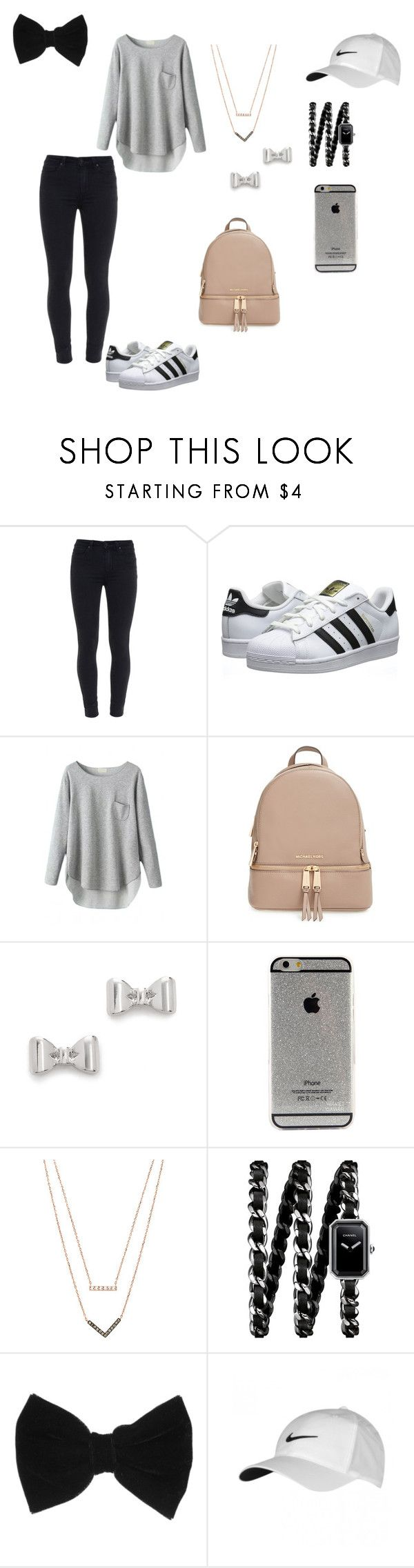 """""""Untitled #14"""" by http-txmmi on Polyvore featuring Paige Denim, adidas Originals, MICHAEL Michael Kors, Marc by Marc Jacobs, Michael Kors, Chanel, claire's and NIKE"""