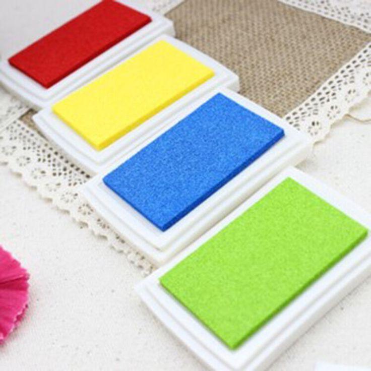 1 UNIDS 6 Color Degradado de Color de BRICOLAJE Casero Decoración Almohadilla de tinta Multicolor Sello Almohadilla de tinta de Huellas Dactilares Scrapbooking Accesorios