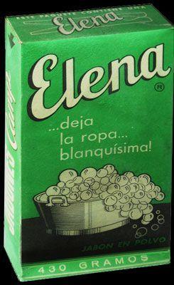Carteles antiguos de publicidad- Detergente Elena