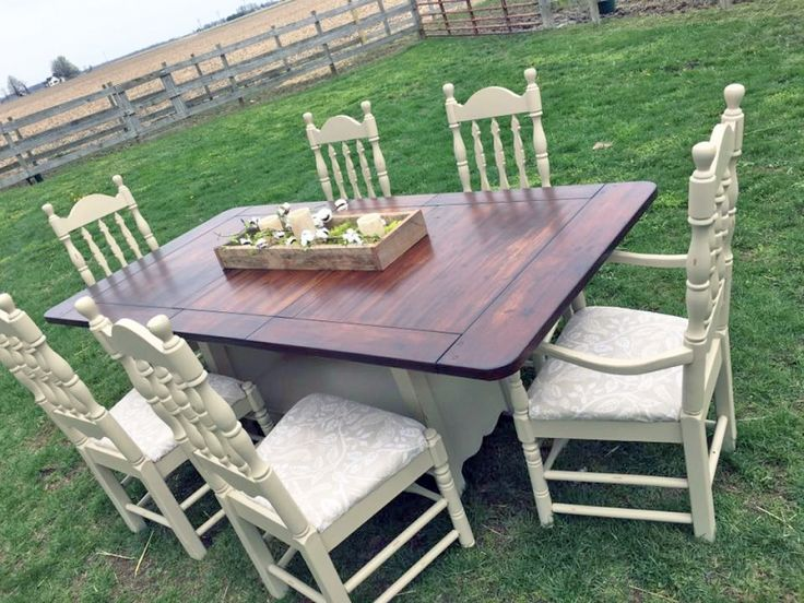 Millstone Milk Paint and Java Gel Stain Dining Set | General Finishes Design Center