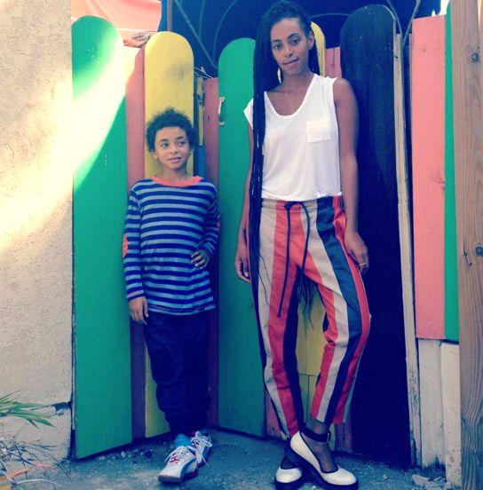 Solange is the coolest mom on the block to 8-yr-old Daniel Julez Smith, Jr.
