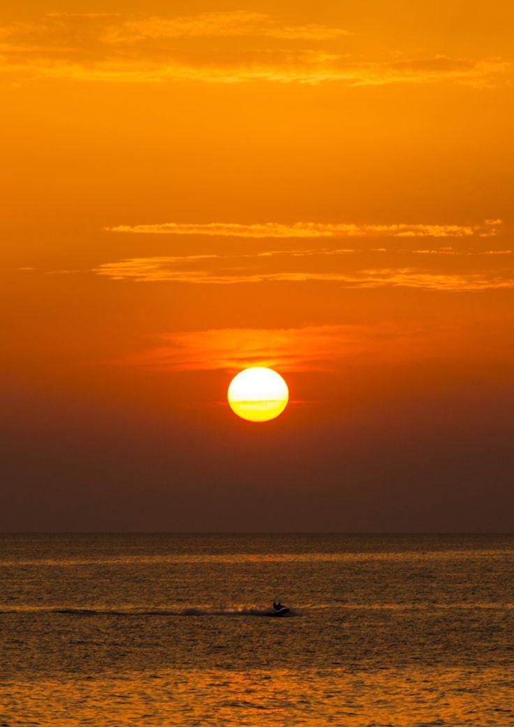 jetski at sunset