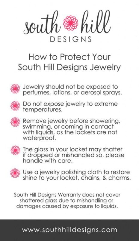 Jewelry FAQ - Canada Charms South Hill Designs