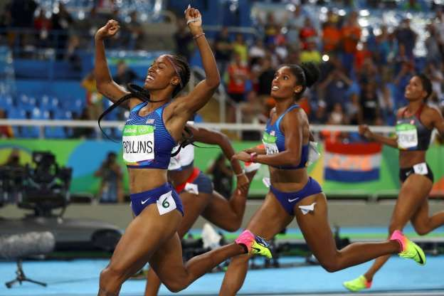 Brianna Rollins wins gold, leads American sweep in 100 hurdles