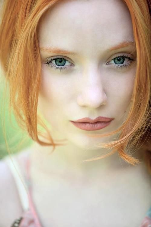 Pale Beauty Portrait Of Blond Woman Stock Image: Rousse? Red Or Ginger Hair!