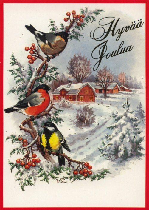 Открытки с новым годом со снегирем