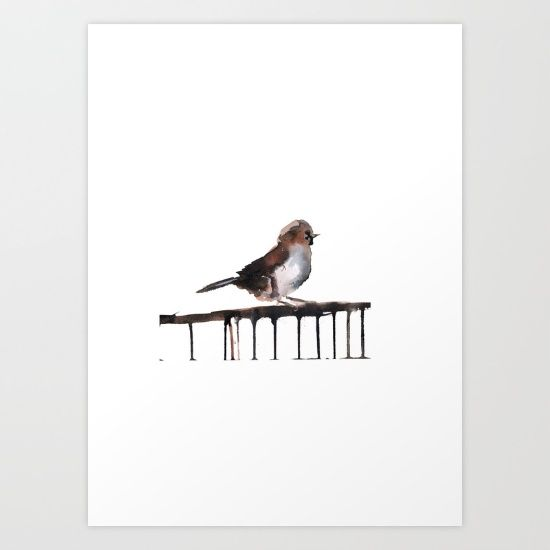 Sparrow Print Art By Chrissy Taylor $22.00