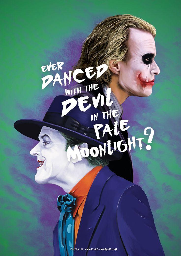 """Joker  """"Apologie du personnage de Joker, grandiosement interprété par Jack Nicholson et Heath Ledger."""""""