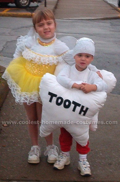 Tooth Fairy and Tooth Couple Costume  sc 1 st  Pinterest : couples homemade costume ideas  - Germanpascual.Com