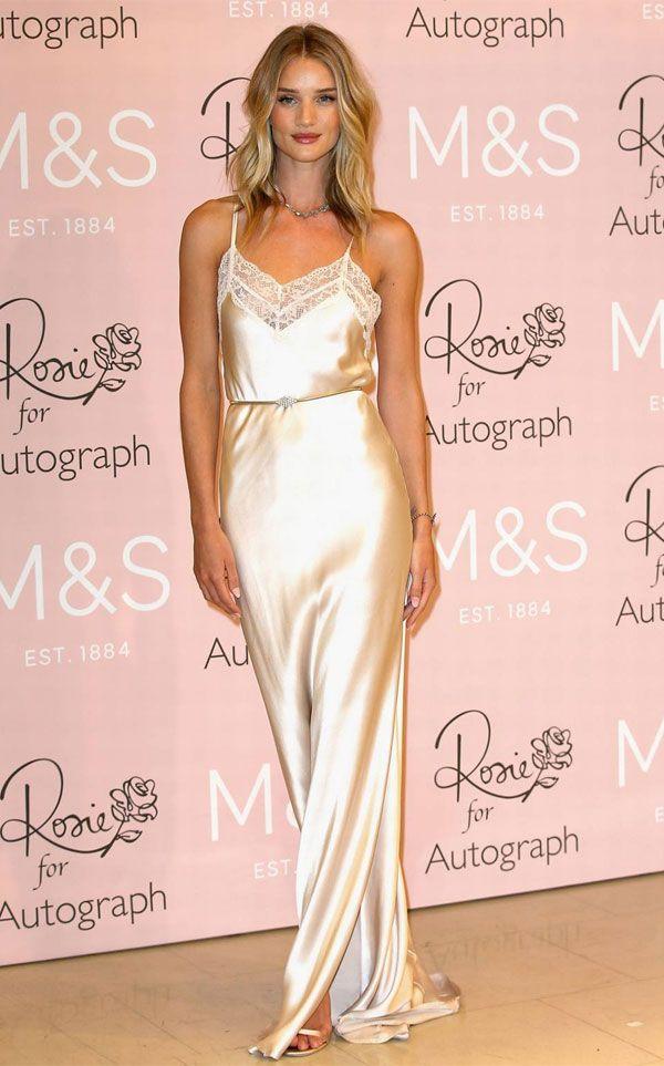 Rosie Huntington slip dress #SlipDress #Style #SoftRomance