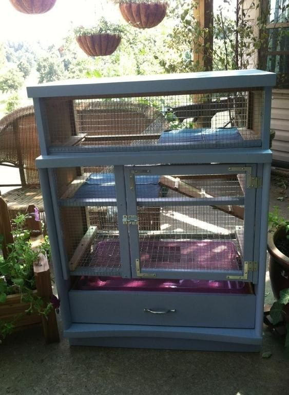Looking for gardening project inspiration check out for Rabbit cage made out of dresser