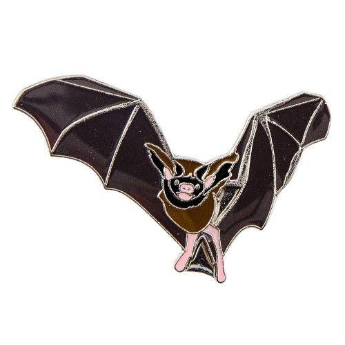 3€ (ledenprijs 2.70€) - Natuurpunt.be - Pin Vleermuis / Metal pin brooch bat wings