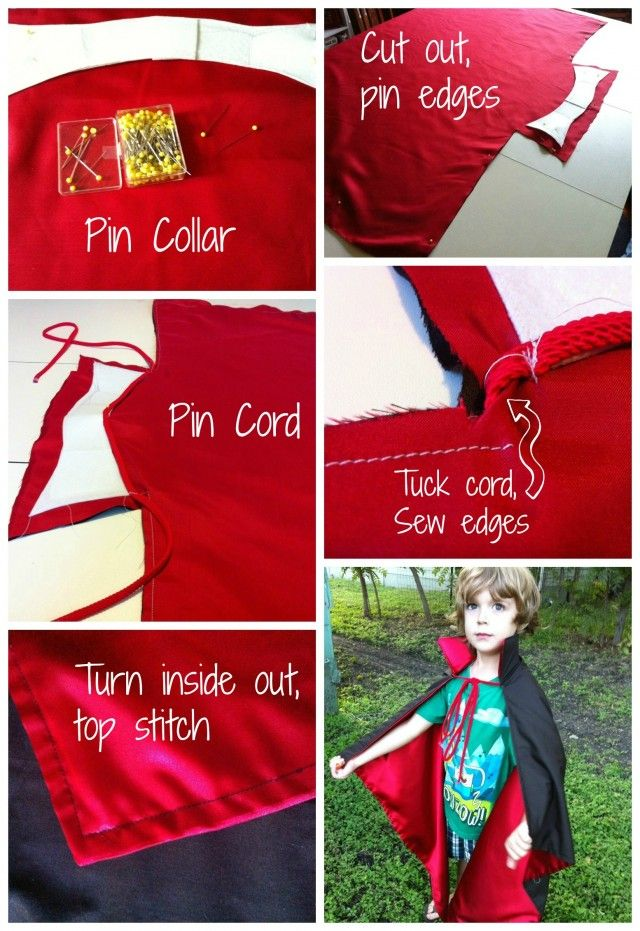 Vampire Cape Tutorial - great for Halloween kids costume!