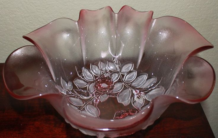 Vintage Walther Glas Mikasa Rosella Pattern Crystal Bowl