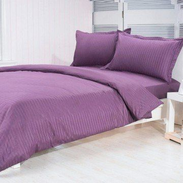 """600 Thread Count Egyptian Cotton Stripe Lavender Twin Bed Skirt by Scala. $36.99. 1 Bed Skirt. Set Includes: 1 Twin Size Bed Skirt 39"""" X 75"""" with 15"""" drop, Tailored style, split corners, Material: 100% Egyptian cotton,Sateen finish Bed Skirt, Single-ply, Care instructions: Machine washable."""