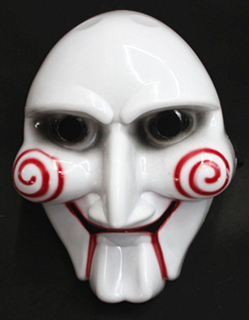 Хэллоуин карнавальные костюмы косплей видел фильм головоломки кукольный маска жуткий страшно маска для мужчин анфас