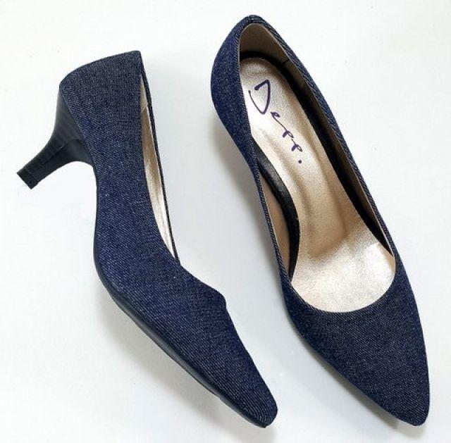 Sapato Scarpin Feminino Jeans - Ref: 1050070