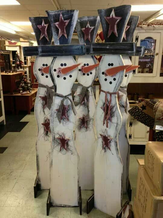 Tall snowman woodcraft
