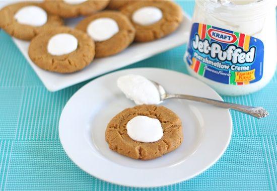 Fluffernutter Cookies...I love fluffernutter sando's so I can't wait ...