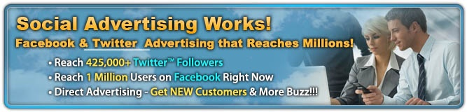 Our exclusive social advertising services provide you with a direct path  for your business to reach HUGE social audiences. Get MORE new customers NOW!