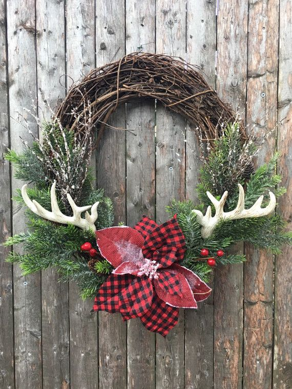 The 25 best ideas about antler wreath on pinterest for Antler christmas wreath