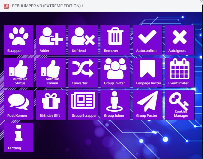 Efbe Jumper Software Promo Fb Super KomplitTeknologi Software Edan Yang Siap Memanjakan Anda…Ambil Targetnya Super Gampang…Sales dan Omsetnya Jadi Nendang!!!Pokoknya asli dah nggak usah Bimbang!Mau ?
