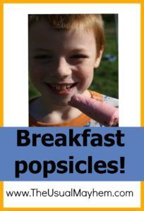 Breakfast popsicle- Quick easy healthy delicious recipe for kids.
