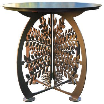 Tree of Life Patio Table eclectic-outdoor-dining-tables