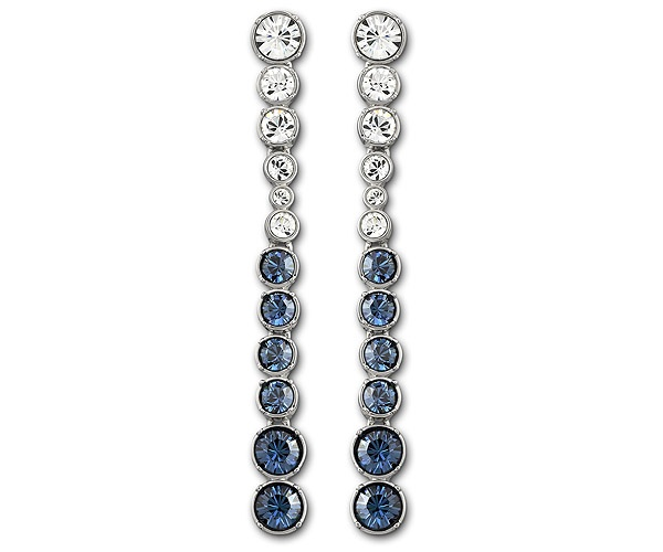 #Swarovski Hot Montana Pierced Earrings - great especially if you wear your hair in an updo #wedding