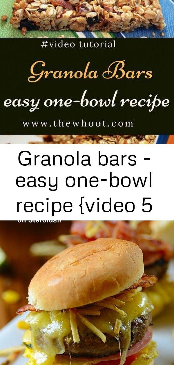 Granola bars - easy one-bowl recipe {video 5   Easy ...