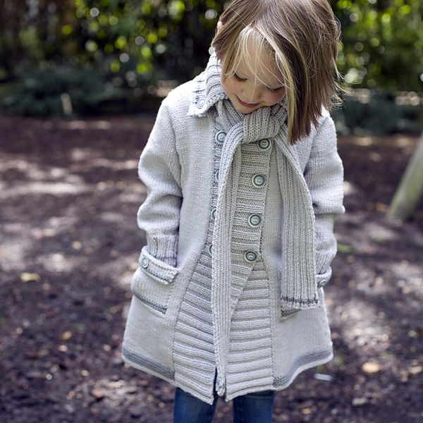 Adorable knitted coat pattern from MillaMia. Comes in sizes from 1 to 5 year old. My baby girl will look so cute in this!