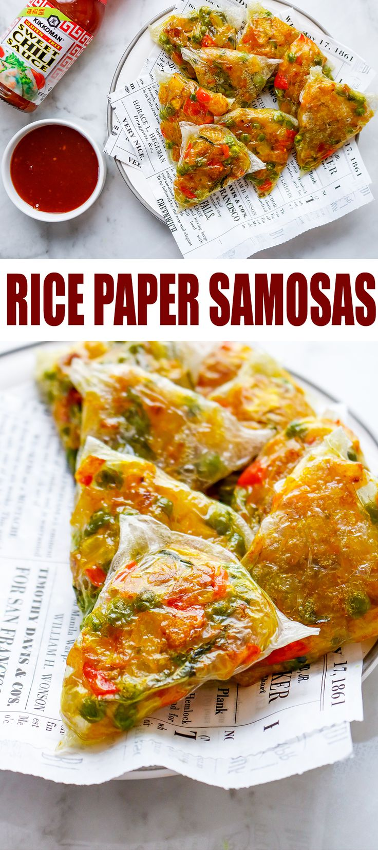 Crispy and Chewy Rice Paper Samosas Recipe Full meal