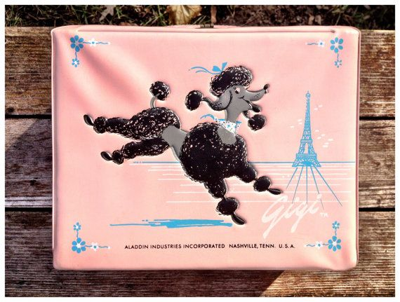 Gigi  Vintage Pink Poodle Lunch Box & Thermos by by Dairy Heiress, $175.00  Here's my lunch kit!