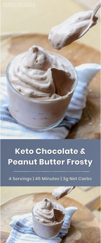 Keto Chocolate Peanut Butter Wendy's Frosty