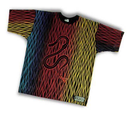 Serpent design on T Shirt by Mini Heath