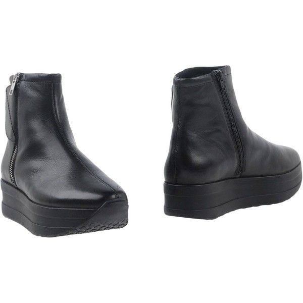 Vagabond Ankle Boots ($140) ❤ liked on Polyvore featuring shoes, boots, ankle booties, black, ankle boots, black boots, black leather booties, wedge ankle boots and wedge booties