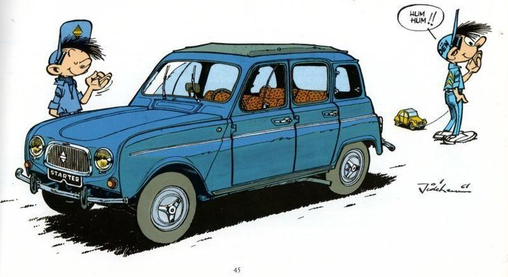 Renault4 dans spirou. My first real car, I changed the engine once with a girl friend.