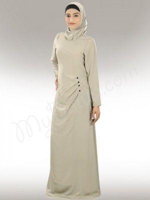 Shop Beautiful Gray Zahra Abaya Online   MyBatua.com  Zahra Abaya! Style No. : ay-313 Shopping Link: http://www.mybatua.com/zahra-abaya