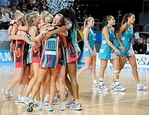 I love the netball - especially if the Melbourne Vixens are playing