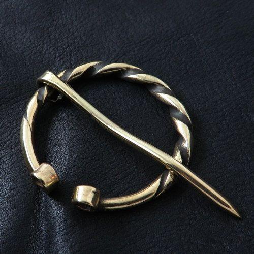 Massive brass penannular brooch by Sulik on Etsy