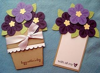 mother's day flower pot card!!
