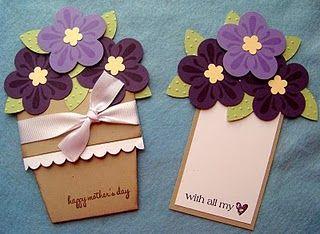 Ideal para el dia de las Madres! Flower Pot Card - Tutorial…