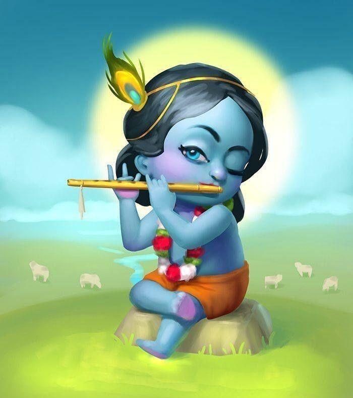 Pin By Dimple On Little God Baby Krishna Shree Krishna Jai Shree Krishna