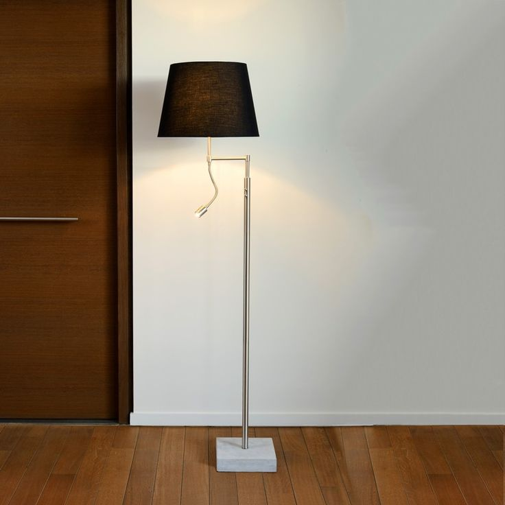 lucide poss floor lamp with led reading light from lyco direct