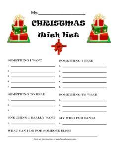 Christmas Wish List and Letter to Santa-FREEBIE